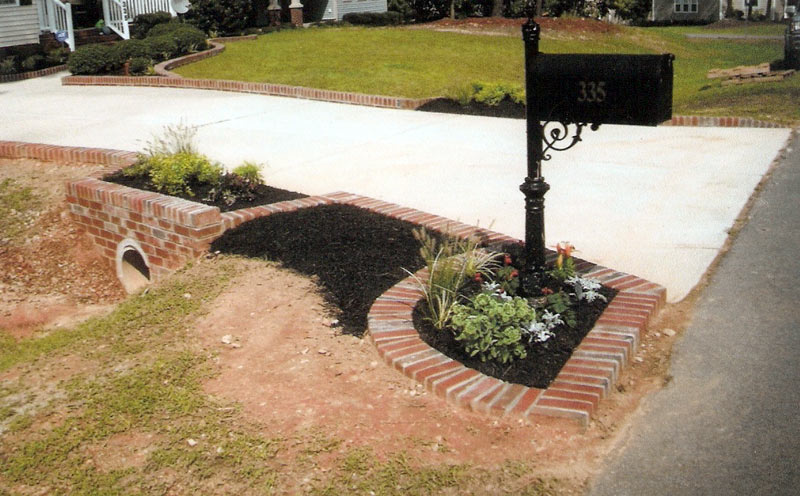 We create best plan landscaping near driveway for Landscaping bricks