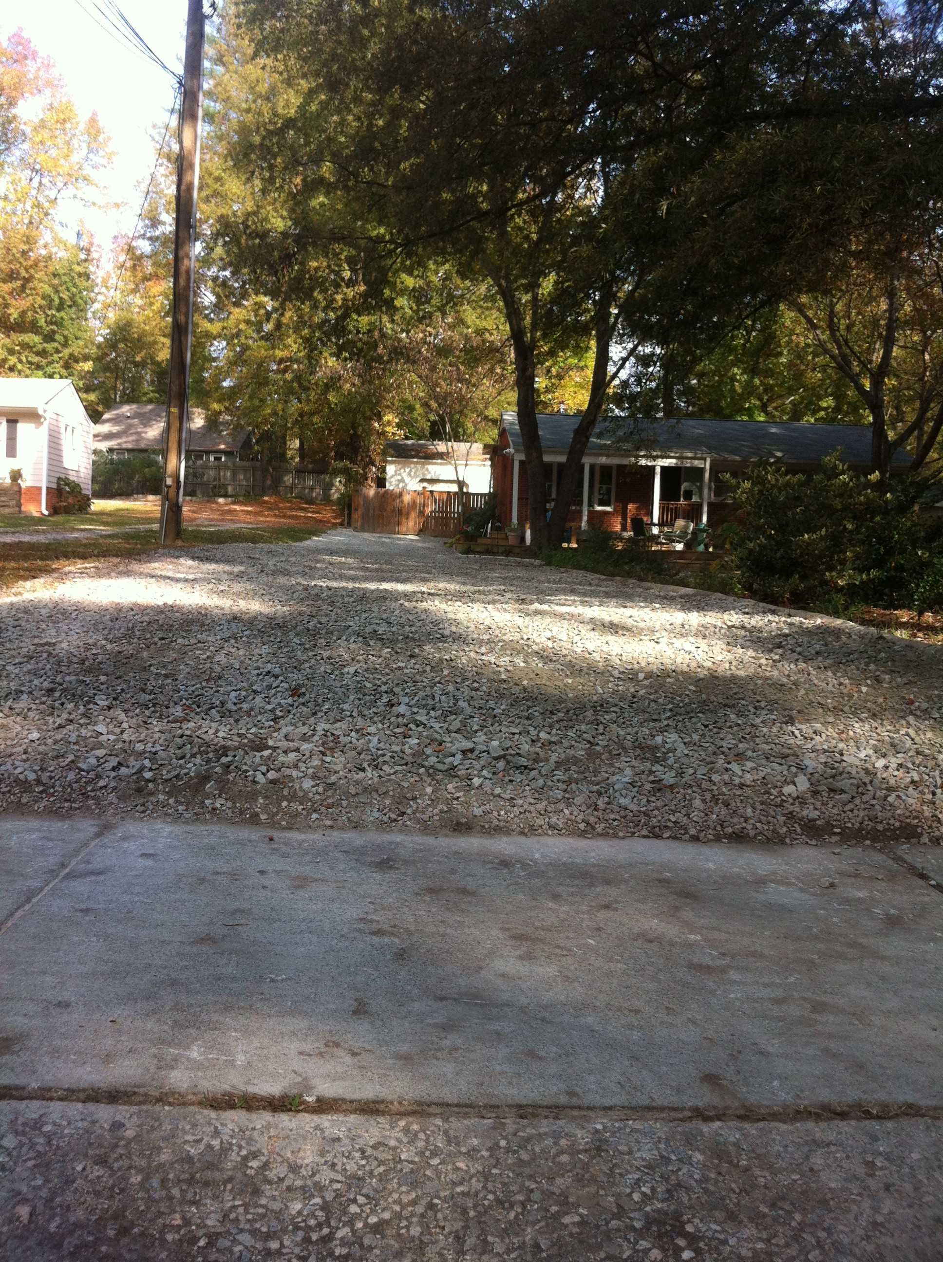 Gravel2 nc sod mulch for Landscaping rocks wake forest nc