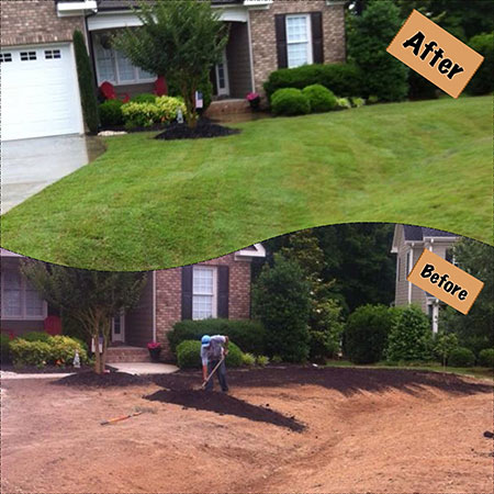 Raleigh Mulch Sod Grading Hardscapes Cary Fuquay